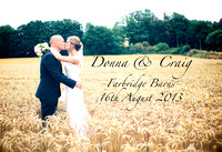 Farbridge barns Wedding Album Donna Craig!