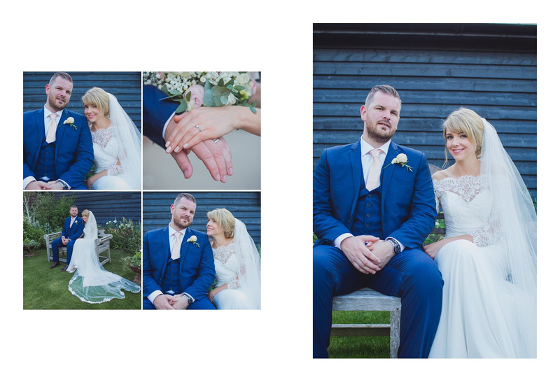 Photographers at Farbridge barns Sussex wedding venue