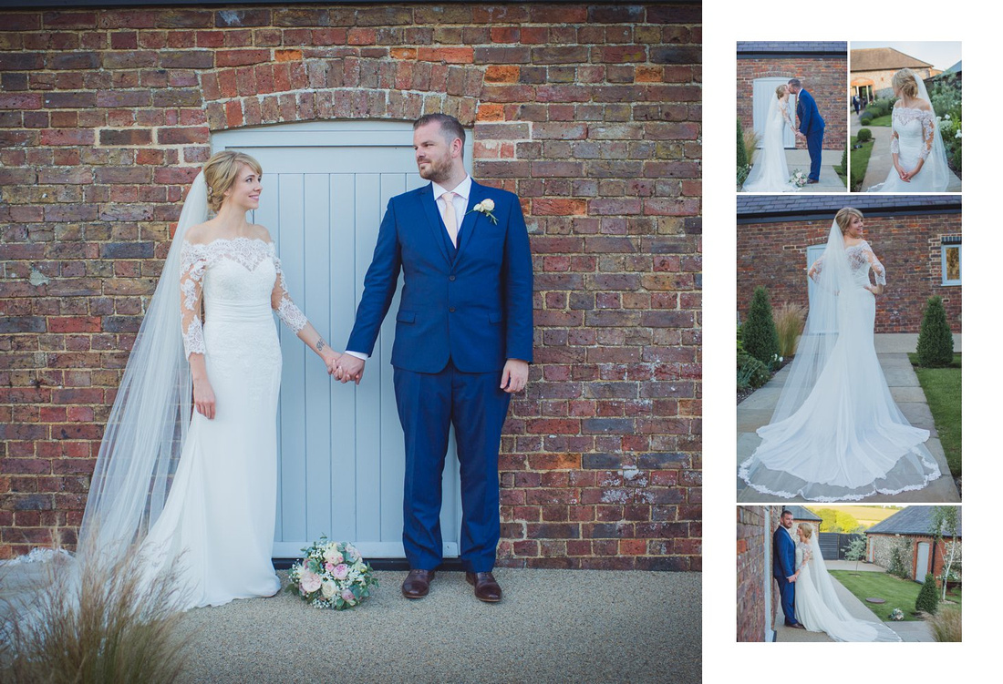 Photographers at Farbridge barns Sussex wedding venue